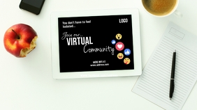 Online community Digitalanzeige (16:9) template