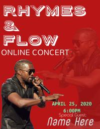 Online concert streaming live music Flyer (US Letter) template