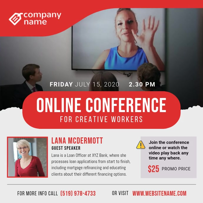 Online Conference Square Video