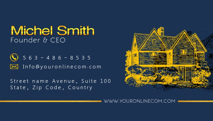 Online Construction Business Card Template Postermywall