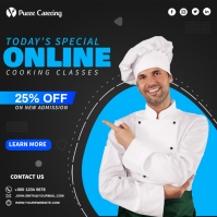 Online Cooking Classes Square (1:1) template