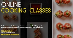 online cooking classes facebook event cover Facebook-gebeurtenisomslag template