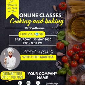online cooking classes template