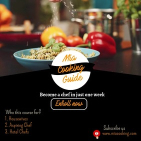 Online Cooking Guide Template for Instagram
