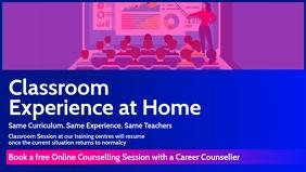 Online Counselling Session Template Vidéo de couverture Facebook (16:9)