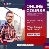 Online Course Banner Carré (1:1) template
