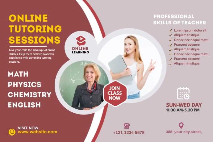 Online Course Banner Cartel de 4 × 6 pulg. template