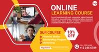 Online course facebook ad Umkhangiso we-Facebook template