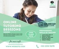Online Course google ads Rettangolo medio template