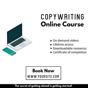 Online course promo video ad