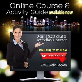Online course training design