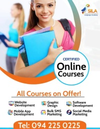 Online Courses Animation Template Flyer (US Letter)