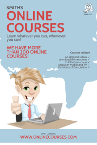 Online Courses flyer Design Template