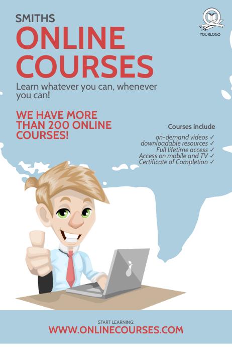 Online Courses flyer Design Template