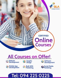 Online Courses Flyer Template Pamflet (Letter AS)