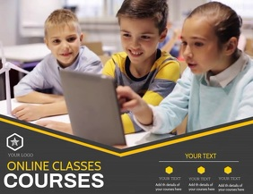 Online courses flyers,tuition flyers