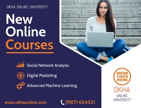 Online Courses Home Learning Flyer