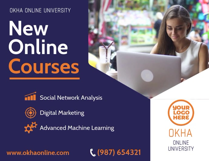 Online Courses Home Learning Flyer video