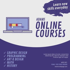Online Courses Video Ad Template Instagram Plasing