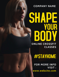 online crossfit classes flyer ad