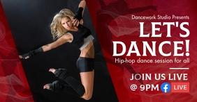 Online Dance Class Facebook Live Post template