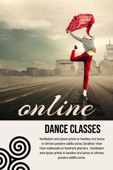Online Dance Classes Banner 4' × 6' template