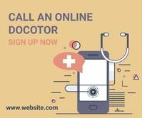Online doctor,online appointment Stort rektangel template