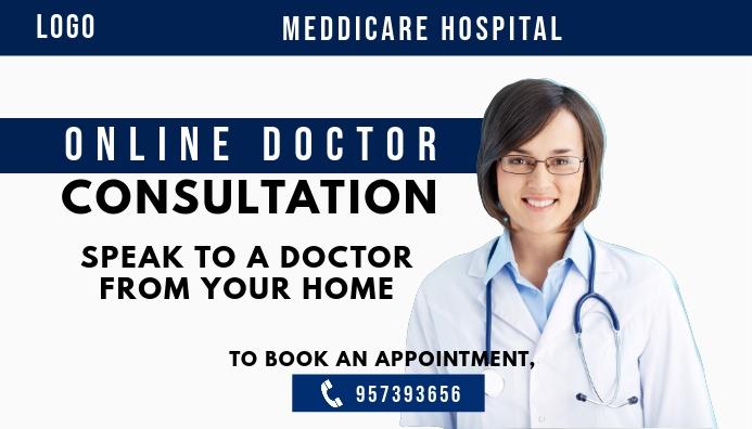 Online Doctor Consultation Template ส่วนหัวบล็อก