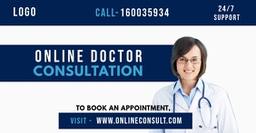 Online Doctor Consultation Template Facebook Shared Image
