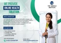 Online Doctor Consultationpostcard template