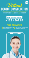Online doctor roll up banner Cartel enrollable de 3 × 6 pulg. template