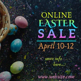 Online Easter Sale Video Quadrat (1:1) template