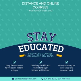 Online education, online courses instagram