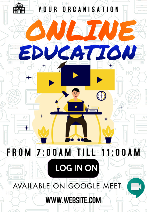 Online Education A3 template