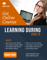 ONLINE EDUCATION FLYER template
