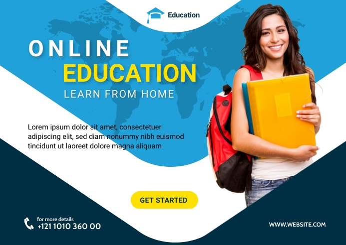 Online Education Postcard Template Briefkaart