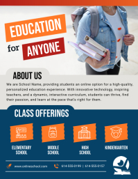 Online Educational Classes Flyer