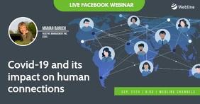 Online facebook webinar live human connection template