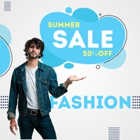 Online fashion Sale Poster Copertina album template