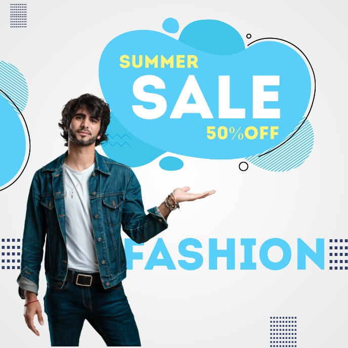 Online fashion Sale Poster Album Cover template