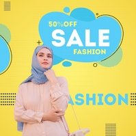 Online fashion Sale Poster Sampul Album template