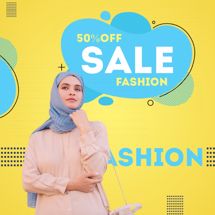 Online fashion Sale Poster Albumcover template