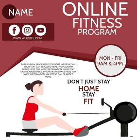 ONLINE FITNESS AND GYM AD Template