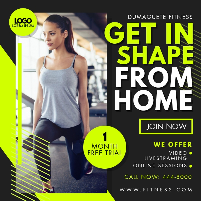 Online Fitness App Classes Advert