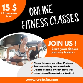 online fitness classes design template