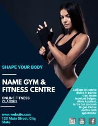 Online fitness classes template advertisement