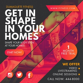 Online Fitness Classes Video Stream Advert