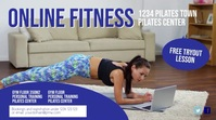 Online fitness training workout header cover Digital Display (16:9) template