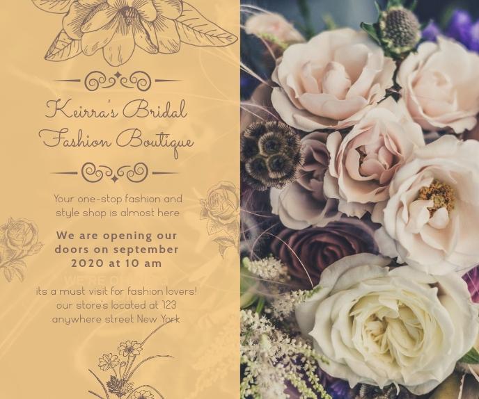 Online Florist Ad with Cursive Fonts