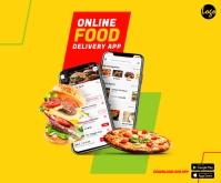 Online Food Delivery App Средний прямоугольник template